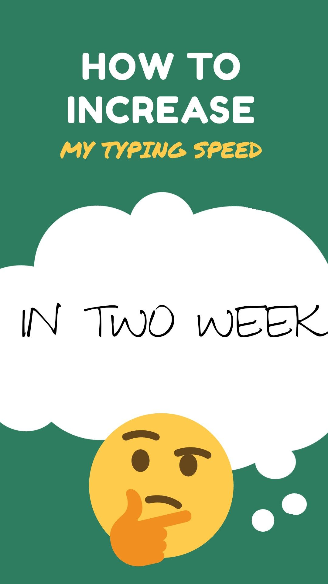 How to increase my typing speed in two week in 2020