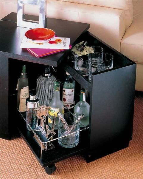 25 mini home bar and portable bar designs offering convenient space saving ideas m bel. Black Bedroom Furniture Sets. Home Design Ideas
