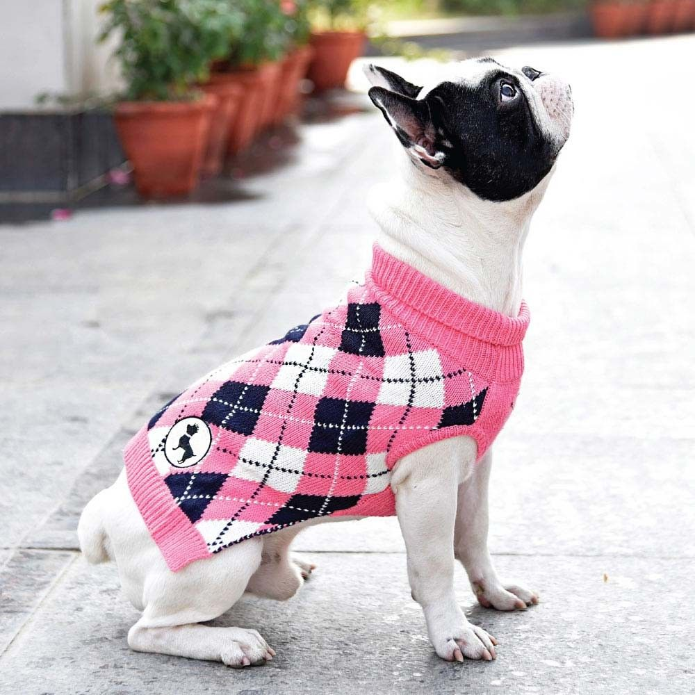 HUFT Cambridge Dog Sweater pink (Dog Clothes) Dog