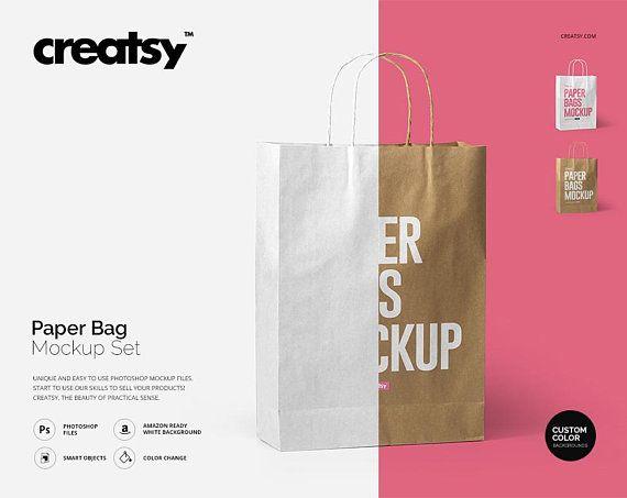 Download Downoad Free Paper Bag Mockup Set Paper Bag Template Craft Paper Psd Free Psd Mockups Bag Mockup Free Packaging Mockup Free Psd Mockups Templates