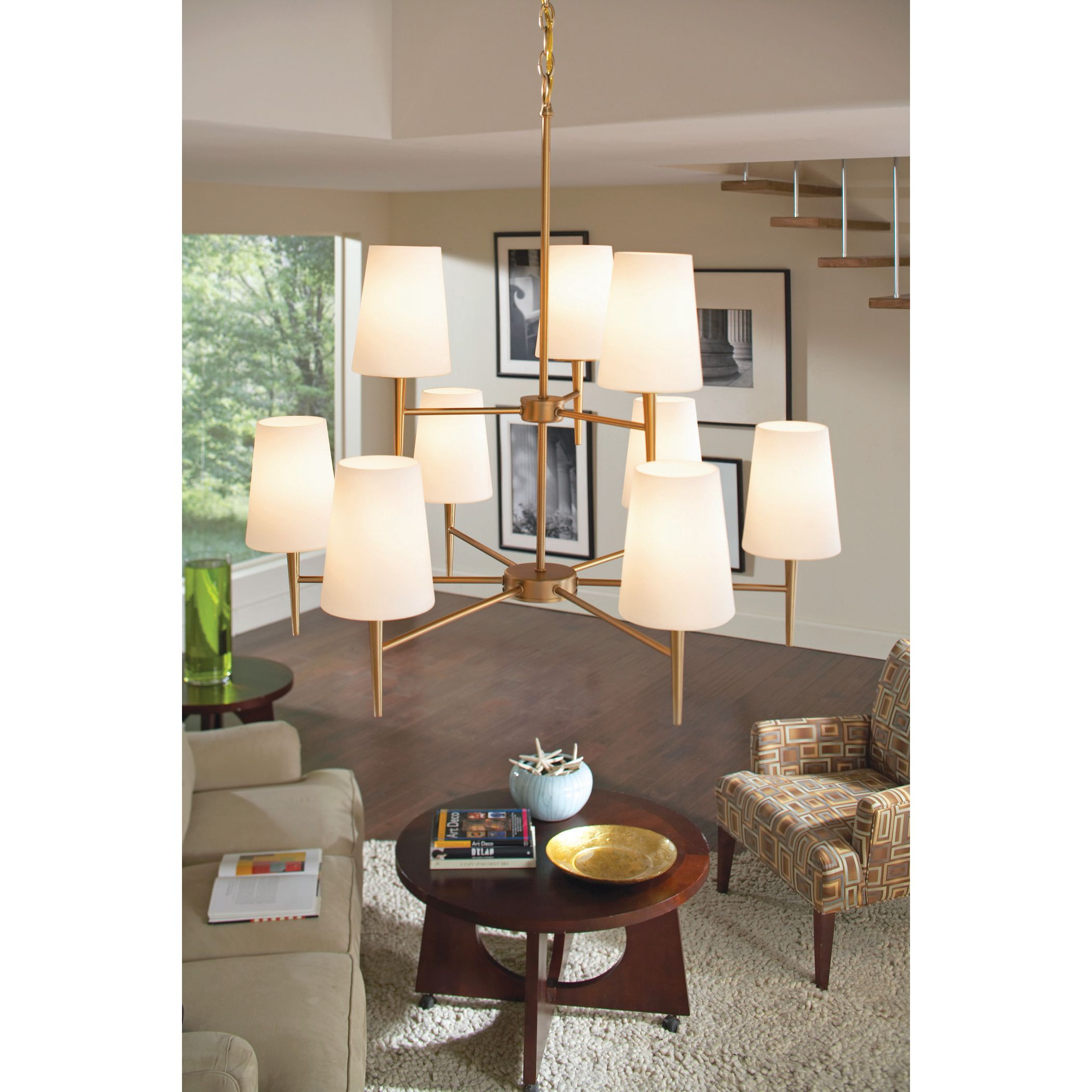 With a clean design and classic style this driscoll chandelier