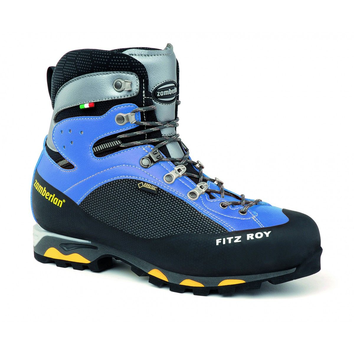 2050 FITZ ROY GTX RR WNS - Perfect boot for alpine mountaineering and via ferrata. MicroFibre and Ceramic Cordura upper, robust and light. Compact boot with a dynamic design, easy to wear and flexible. Stable platform with Vibram® Mulaz outsole. #zamberlan #alpine #fitz #roy #fitzroy #wns
