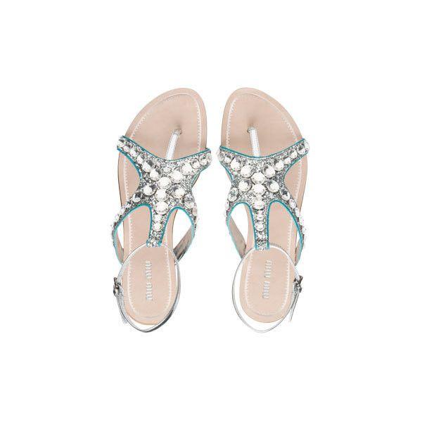 Miu Miu Glitter Starfish Silver Anise Sandals LOVE IT