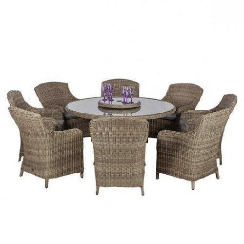 Wentworth 8 Seater Round Imperial Dining Set