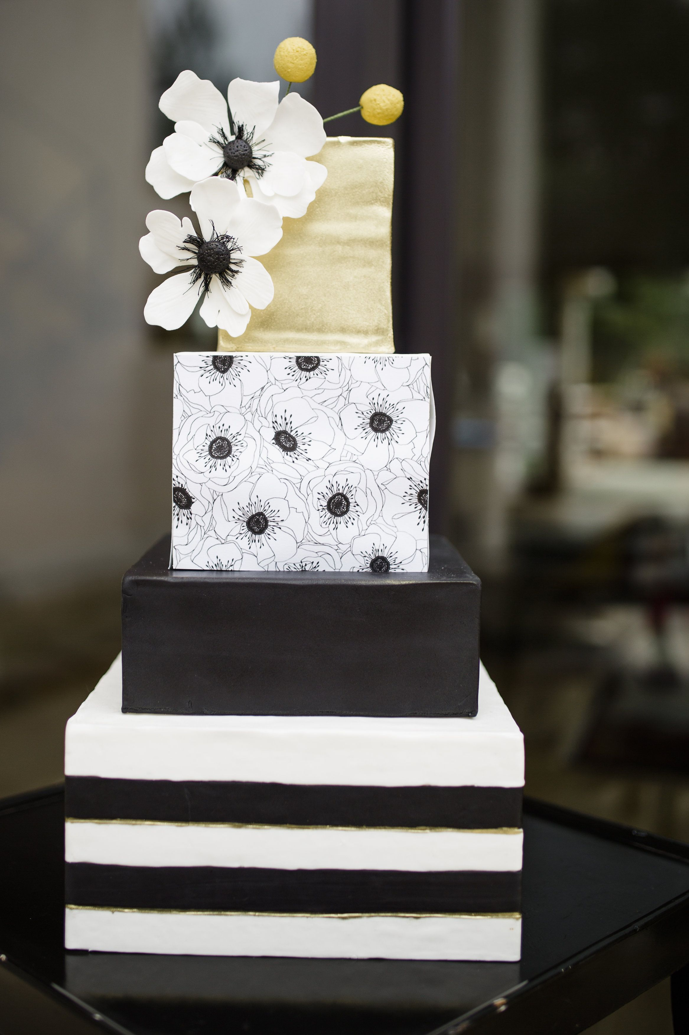 black and white square wedding cake designs modern glam wedding cake square cakes sugaring and cake 11839