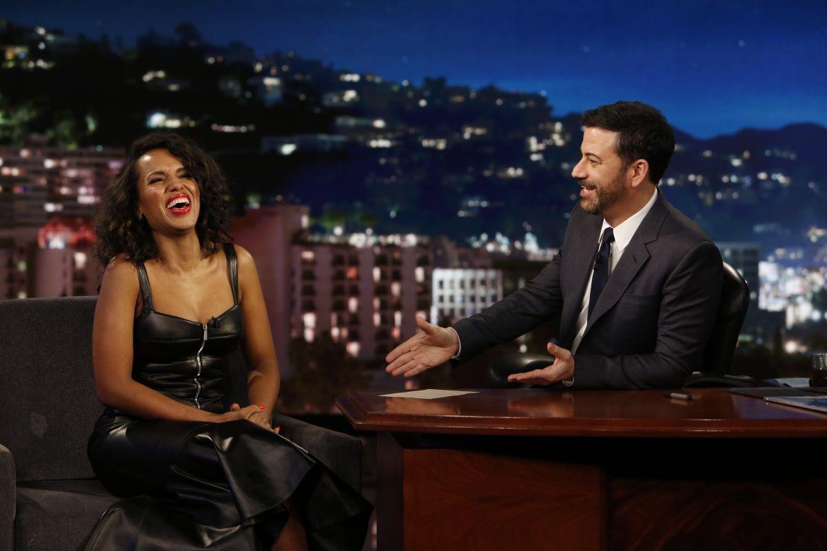 KERRY WASHINGTON at Jimmy Kimmel Live 02/09/2017
