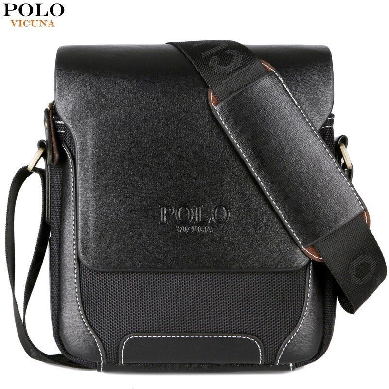9143fa2556 Details about Solid Crossbody Bag VICUNA POLO Leather Shoulder Bag ...