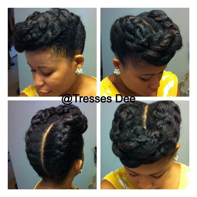 Love This Retro Natural Hair Updo Natural Hair Stuff