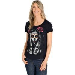Photo of Lethal Angel Skull Tattoo Damen T-Shirt schwarz Xl