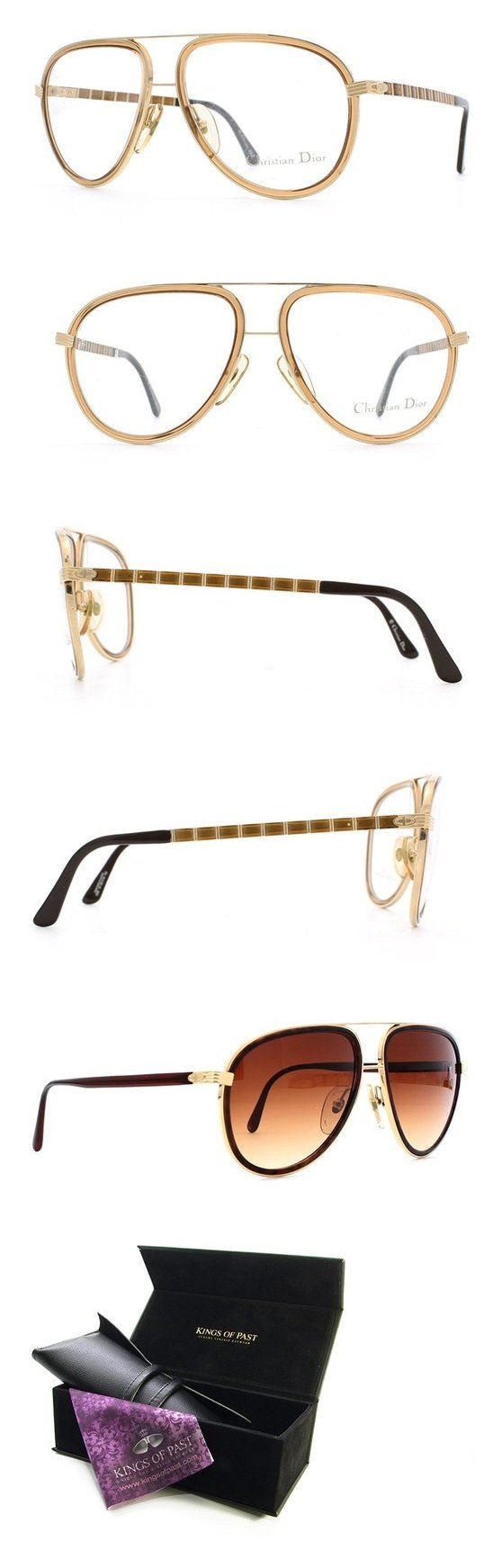 Christian Dior 2526 FLEX 43 Gold and Brown Authentic Men Vintage ...