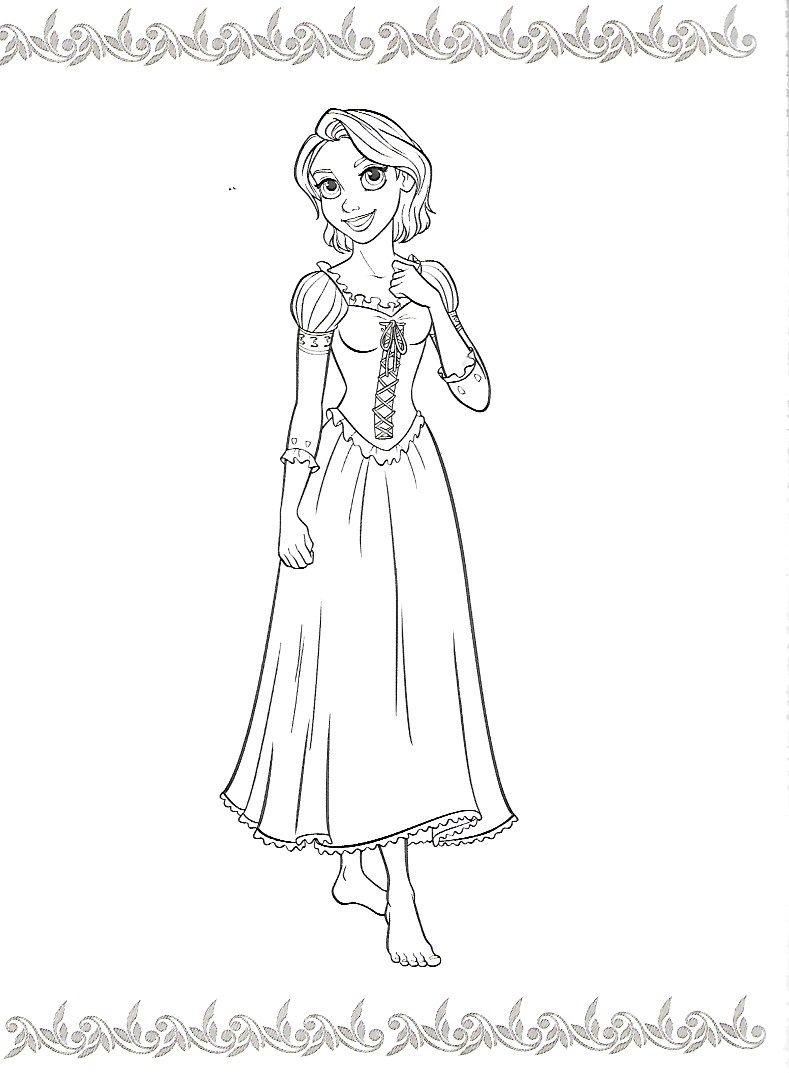Pin by Karen Haskill-Kibler on coloring pages | Pinterest | Rapunzel ...