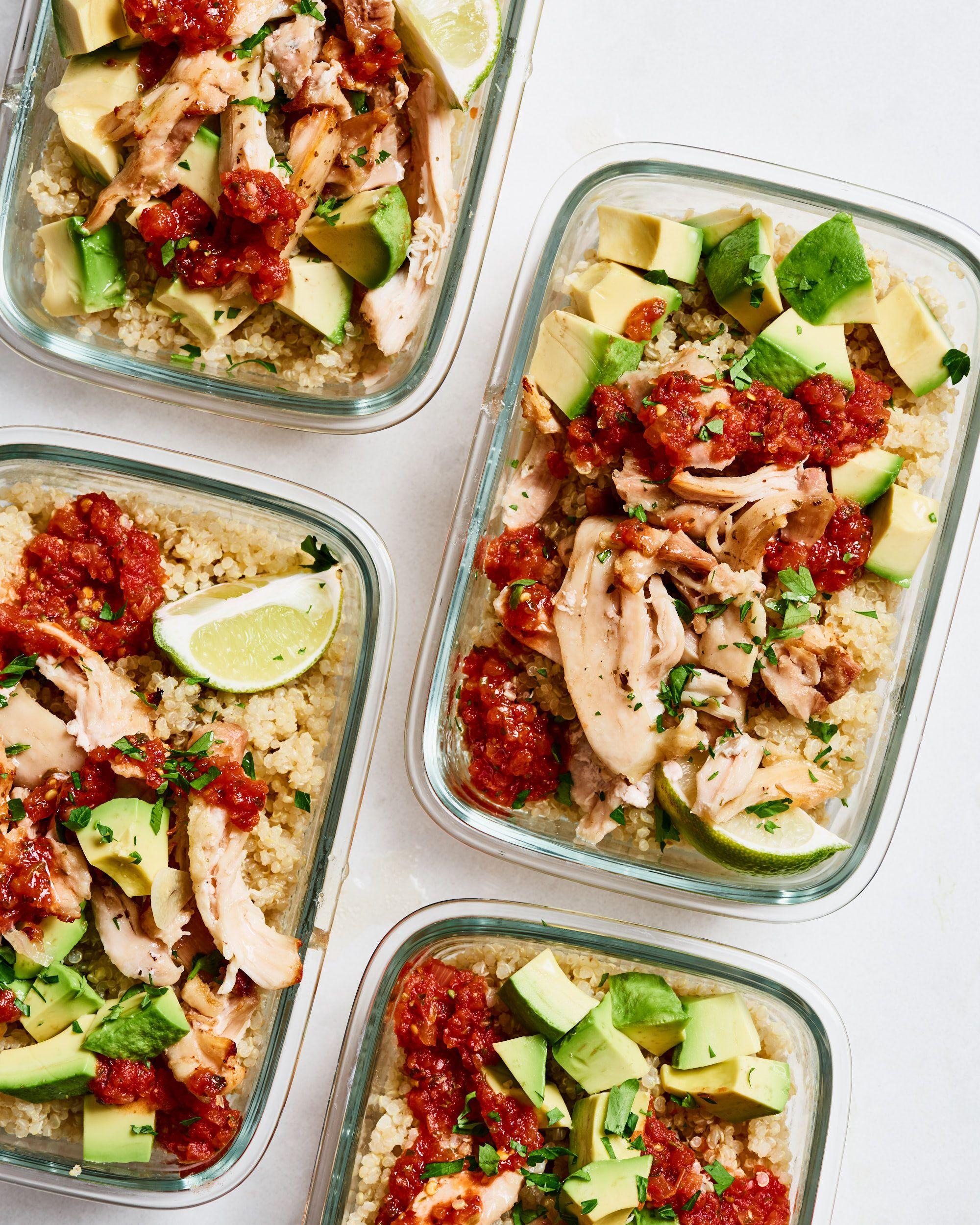 Meal Prep Plan: A Week of Gluten-Free Meals in Under Two Hours #mealprepplans