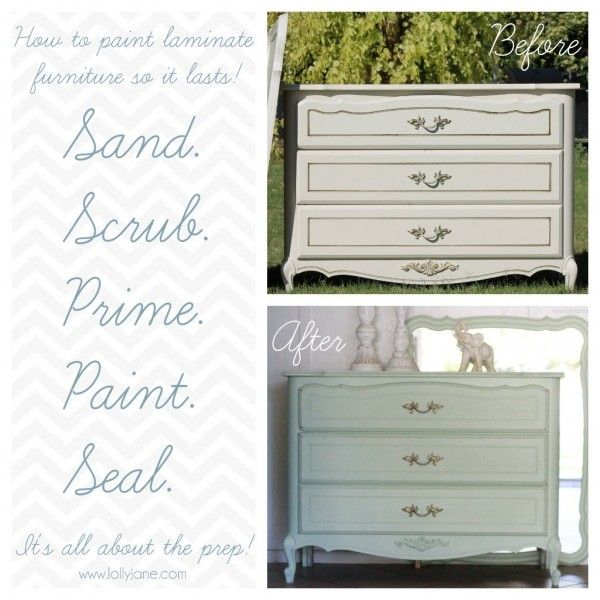How To Paint Laminate Furniture. Remember To Seal As Specified In Comments,  Leave Time