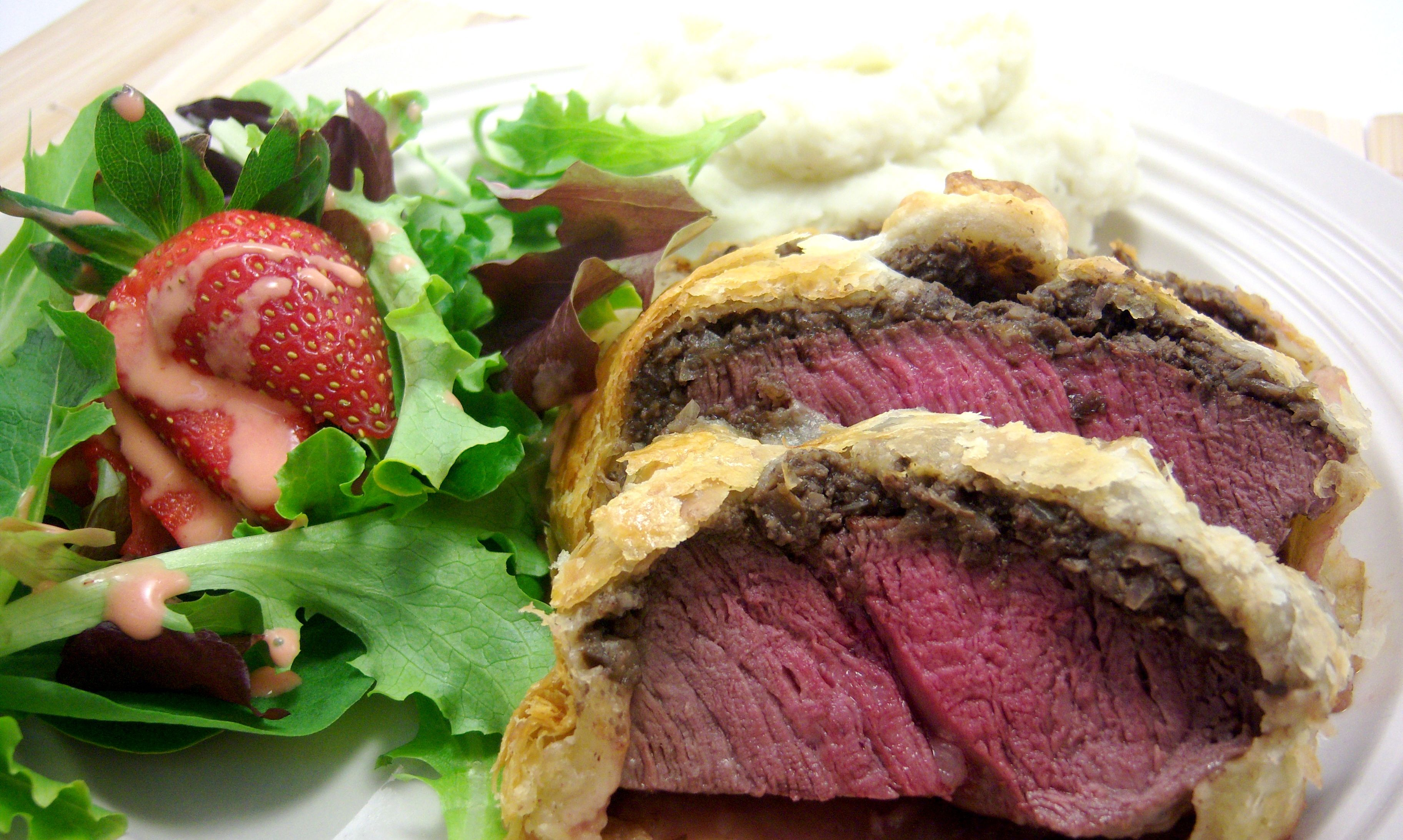 Beef Wellington:  Filet Mignon wrapped in puff pastry. What more could you ask for?
