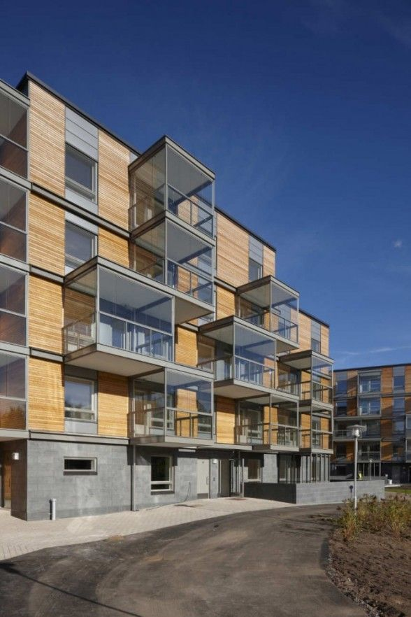 Ruotutorppa Social Housing, Helsinki, Finland by Hannunkari & Mäkipaja Architects