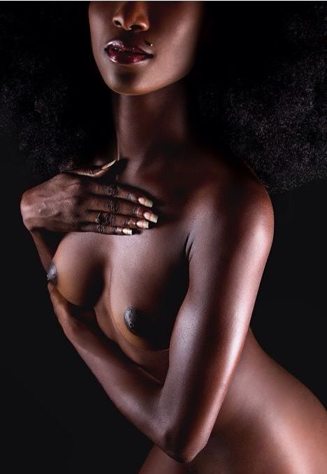 Nude dark black women