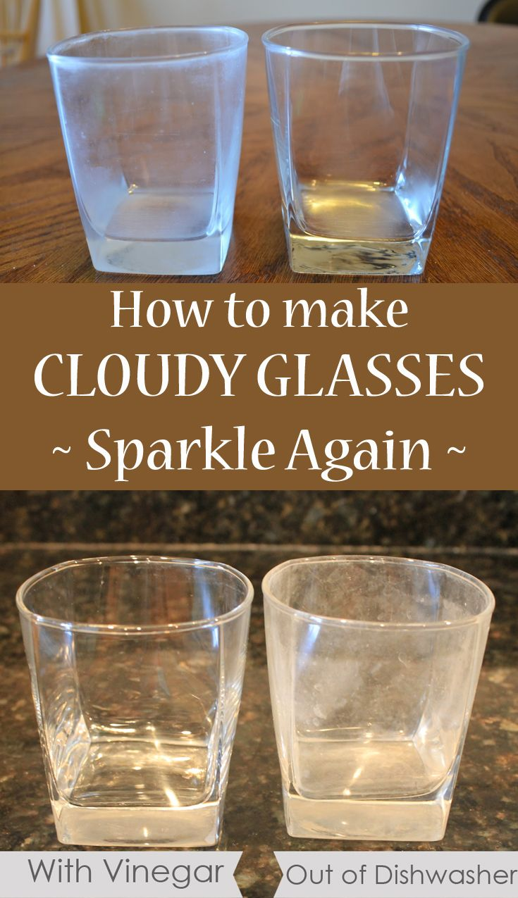 How to make cloudy glasses sparkle again | Hard water, Water glass ...