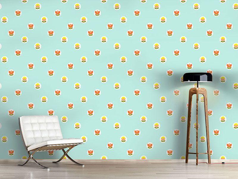 Tapeten küchengestaltung ~ Kreative wandgestaltung mit d keramikfliesen tapeten wand