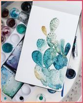 Photo of Quick portrait of Carl. . . . #cactus #painting #watercolor #watercolor … #cac…