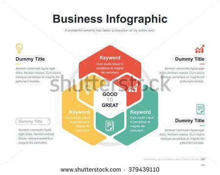 Flat business presentation vector slide template with hexagon venn flat business presentation vector slide template with hexagon venn diagram ccuart Images