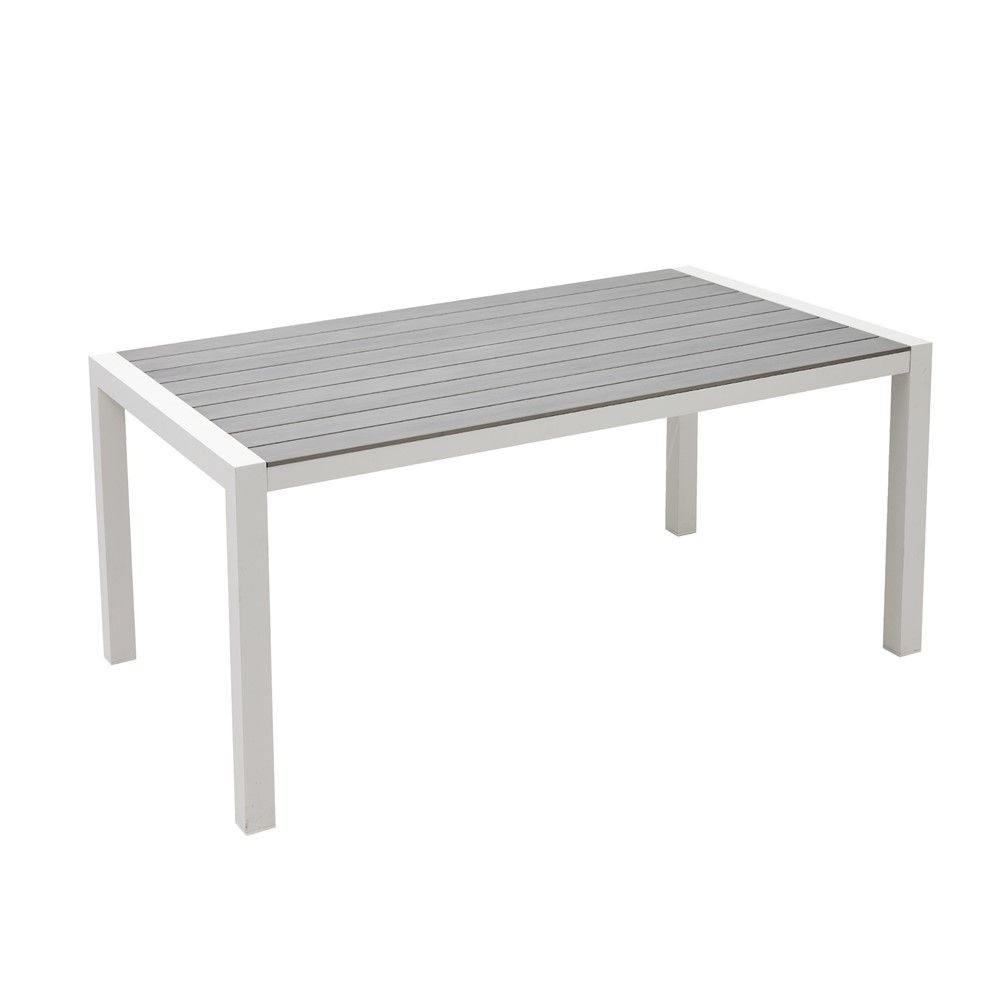 Table Moody coloris blanc et gris L.160 | MAISON * HOME SWEET HOME ...