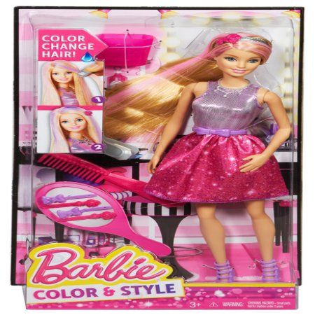 Barbie Hair Color And Style Doll Multi Colored Words Barbie