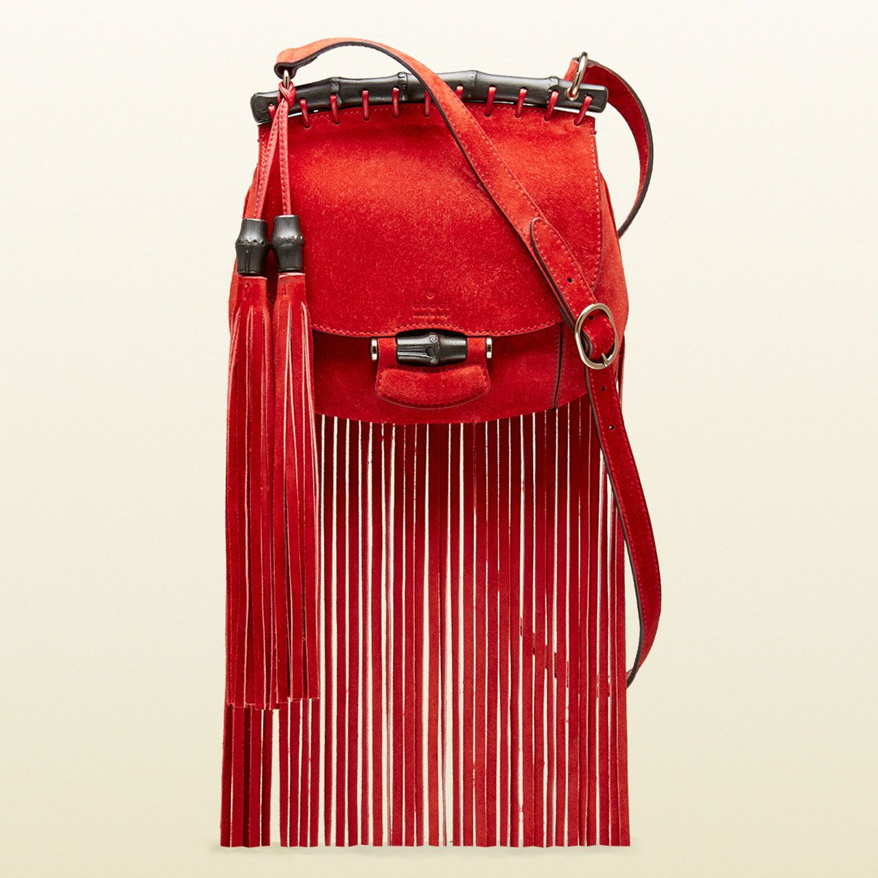 The SS 2014 Gucci Nouveau Fringe Suede Shoulder Bag  58906b07002