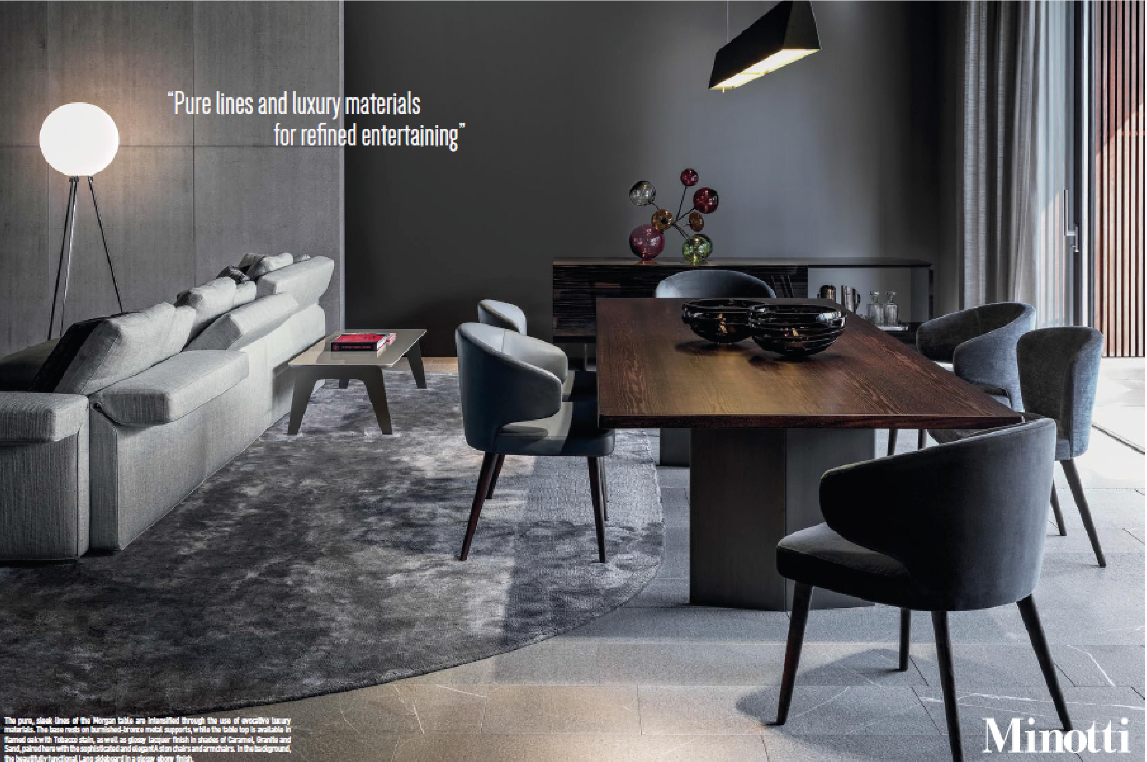 Borgonovo Mobili ~ Minotti special 9 pages ad campaign in oct wallpaper magazine