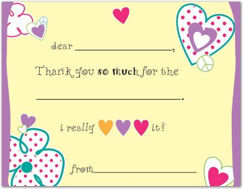 34% Off was $8.95, now is $5.95! Loving Hearts Kids Fill-in Birthday Thank You Cards  #MyExpression.com