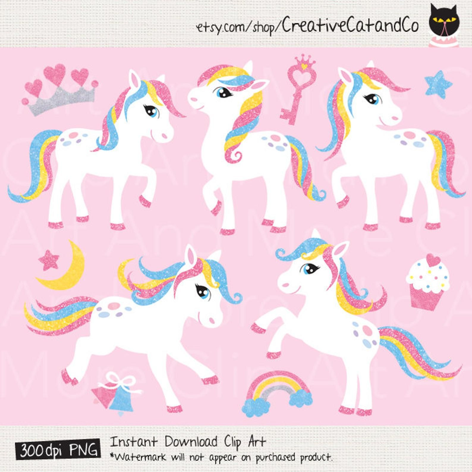 Pony Clipart White Little Pony Horse With Glitter Effect Etsy In 2021 Clip Art Little Pony Pony Horse