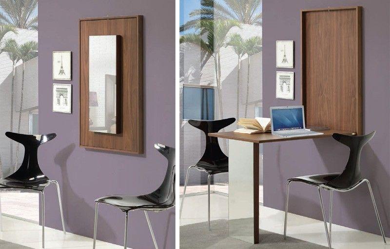 Marco de pared estrecho convertible en mesa decoracion - Mesas escritorio plegables ...