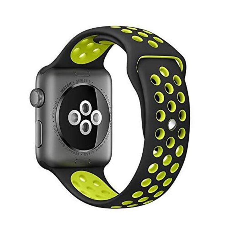4a8b762d569 Soft Silicone Replacement Wristband for Apple Watch Series 1 2 3 Breathable  hole iwatch band