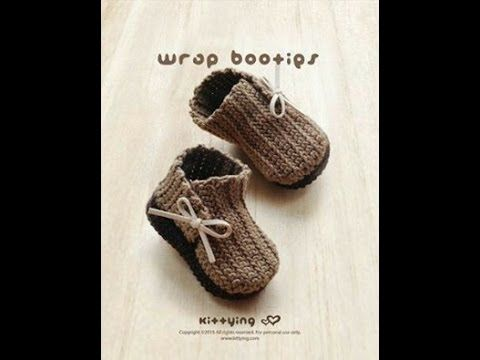 How to crochet simple baby booties p1 - YouTube | Gehäkelte Boots ...