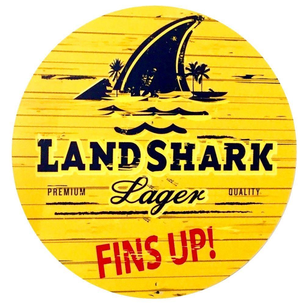 "Landshark Lager Aluminum Collectible Sign 7/"" Diameter"