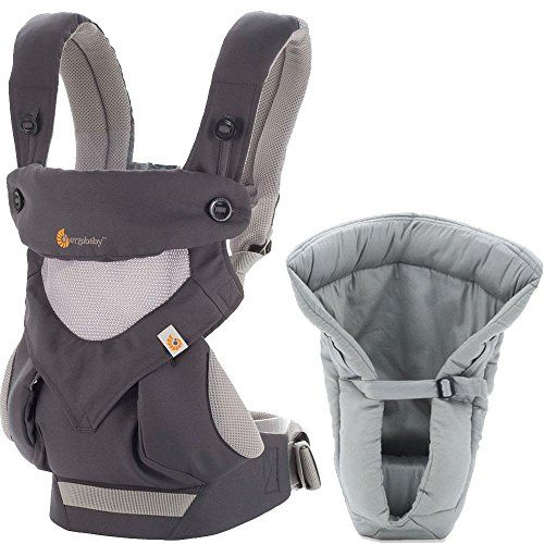 Ergo Baby BC360PBKGR1- 360 Carrier with Infant Insert ...