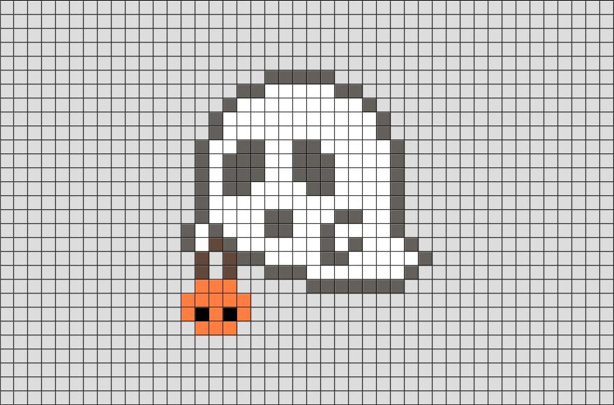 Ghost Pixel Art   hama!   Pinterest   Arte, Manualidades y Bordado