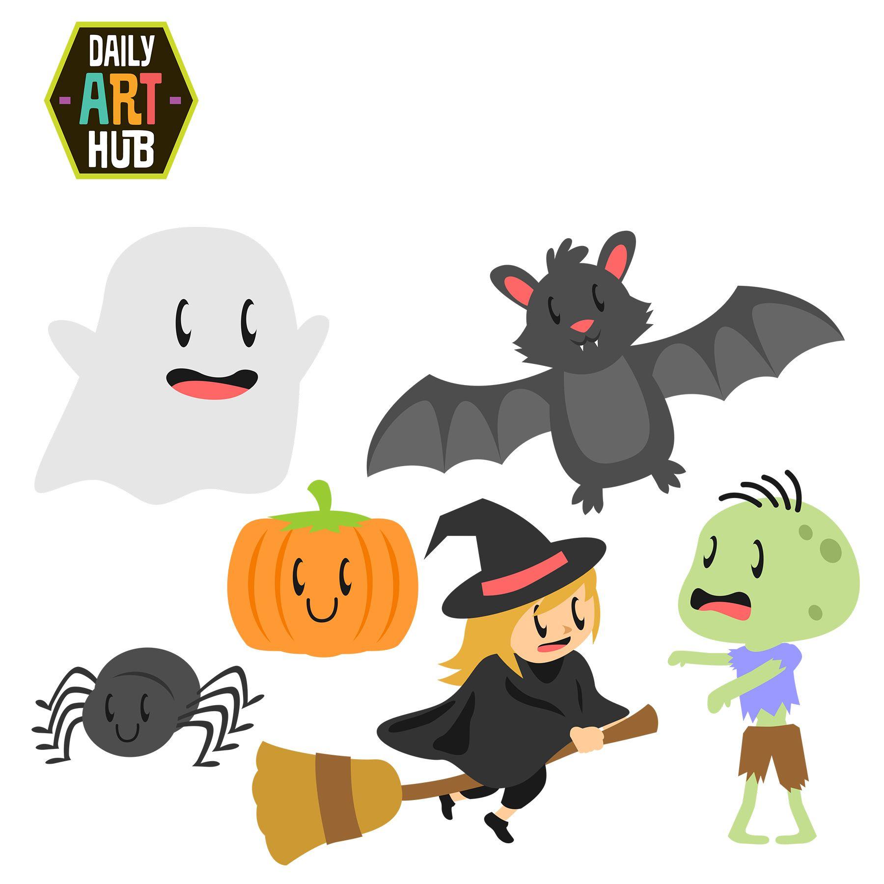 Cute Halloween Clip Art Set | ☆⁀Halloween⁀☆ | Pinterest | Clip ...