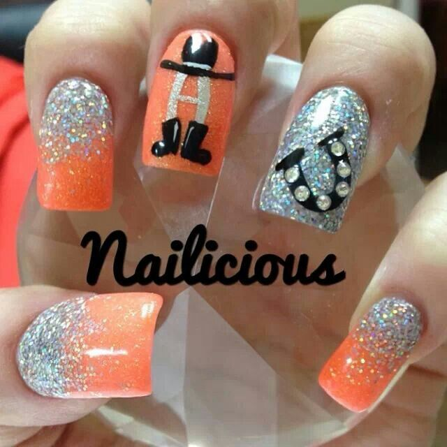 rodeo nail designs | Houston Rodeo nails | Nails | Pinterest | Rodeo ...