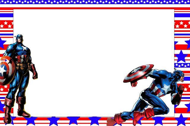 Capitán América: Invitaciones, Imágenes y Fondos para Imprimir ...