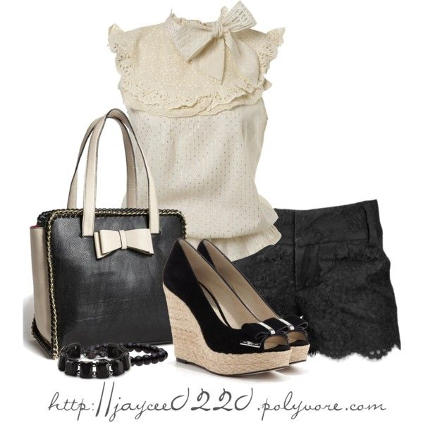 """Classic Cream and Black"" by jaycee0220 on Polyvore"