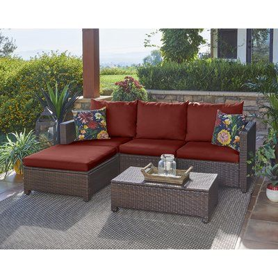Mercury Row Lachesis 5 Piece Sectional Seating Group With Cushions