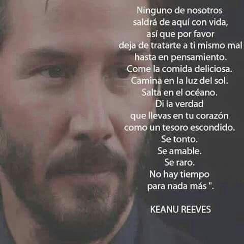 Keanu Reeves Sentirmevivo Sueños De Amor Pensamientos Y