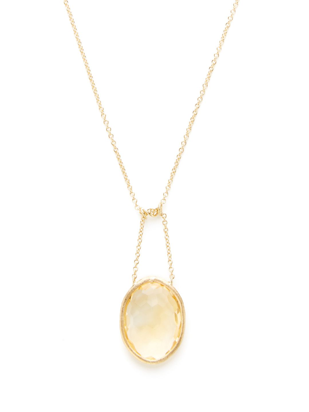 Pillow citrine pendant necklace by nanis at gilt jewelry pendants