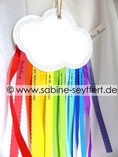 Schön Wir Feiern Kindergeburtstag: Einladungskarten Selbst Gemacht U2013 Eine Wolke  Mit Regenbogen | Blog Sabine Seyffert