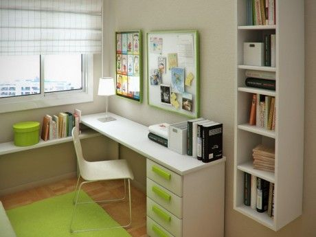 Chambre Adolescent Table salle d\u0027étude Desk shelves, Dream rooms