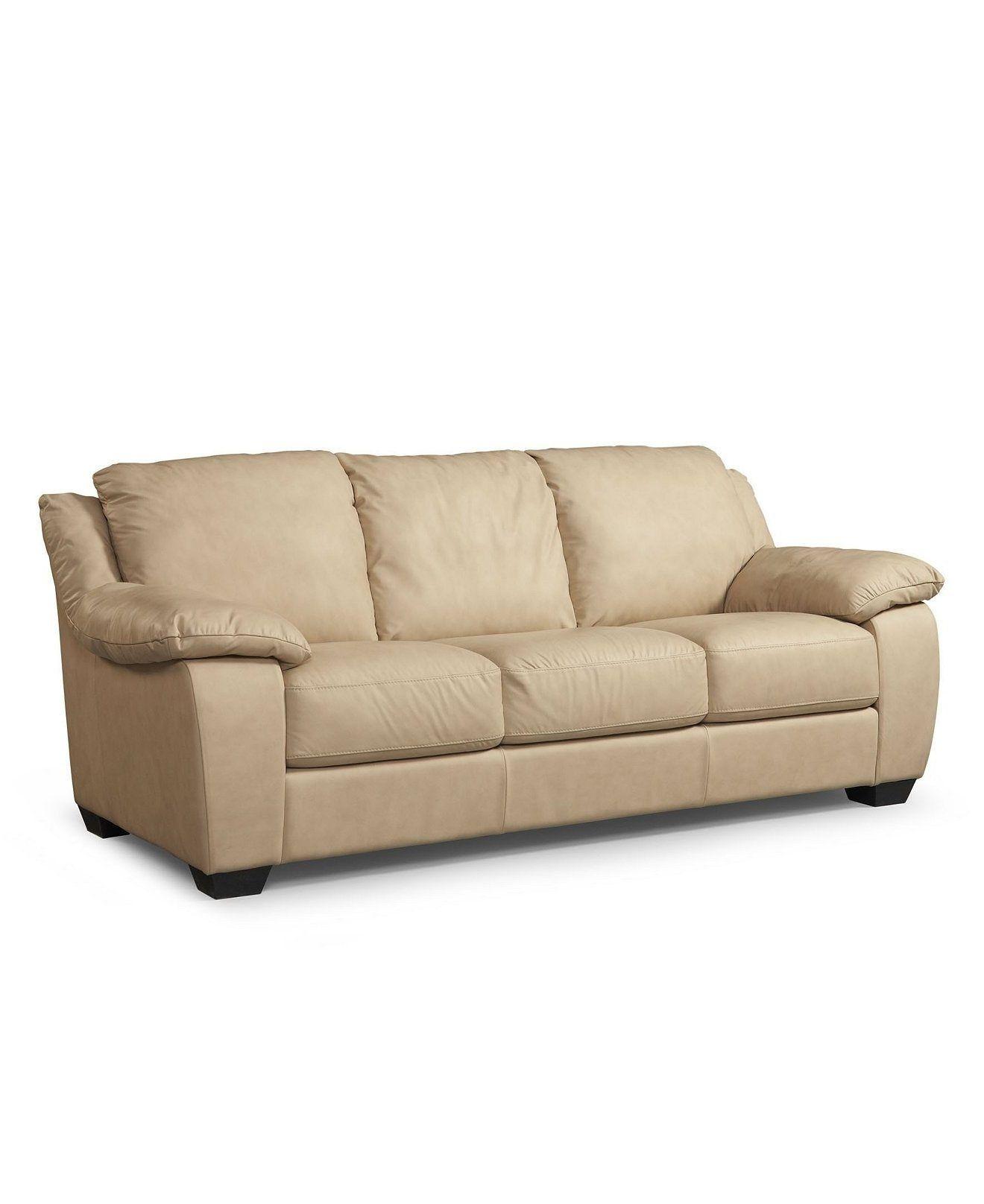 Charmant Blair 86 Leather Sofa