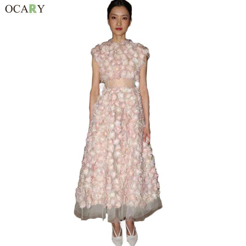 Luxury Brand Quality Women Floral Patchwork Party Dress Elegant Mesh Club Dress  Fashion Maxi Dress  Szie XL Vestidos #Affiliate