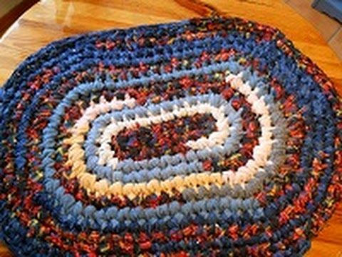 This Video Is A Tutorial Geared Towards The Beginner On How To Make Crocheted Oval Rag Rug Made Using Sheet Yarn