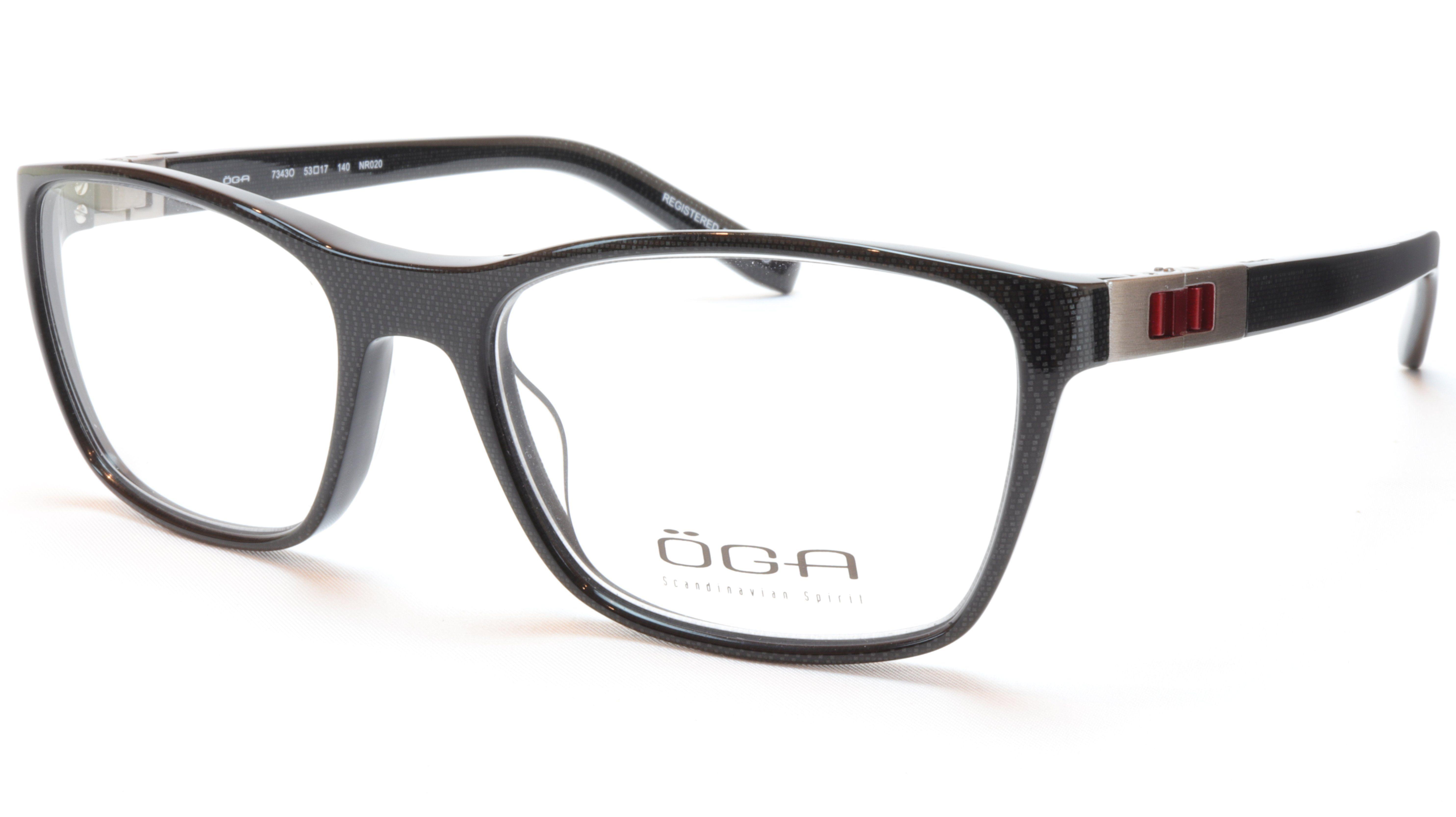 9a0f21126982 OGA Morel Eyeglasses Frame 73430 NR020 Acetate Black Red France 53-17-140,  37