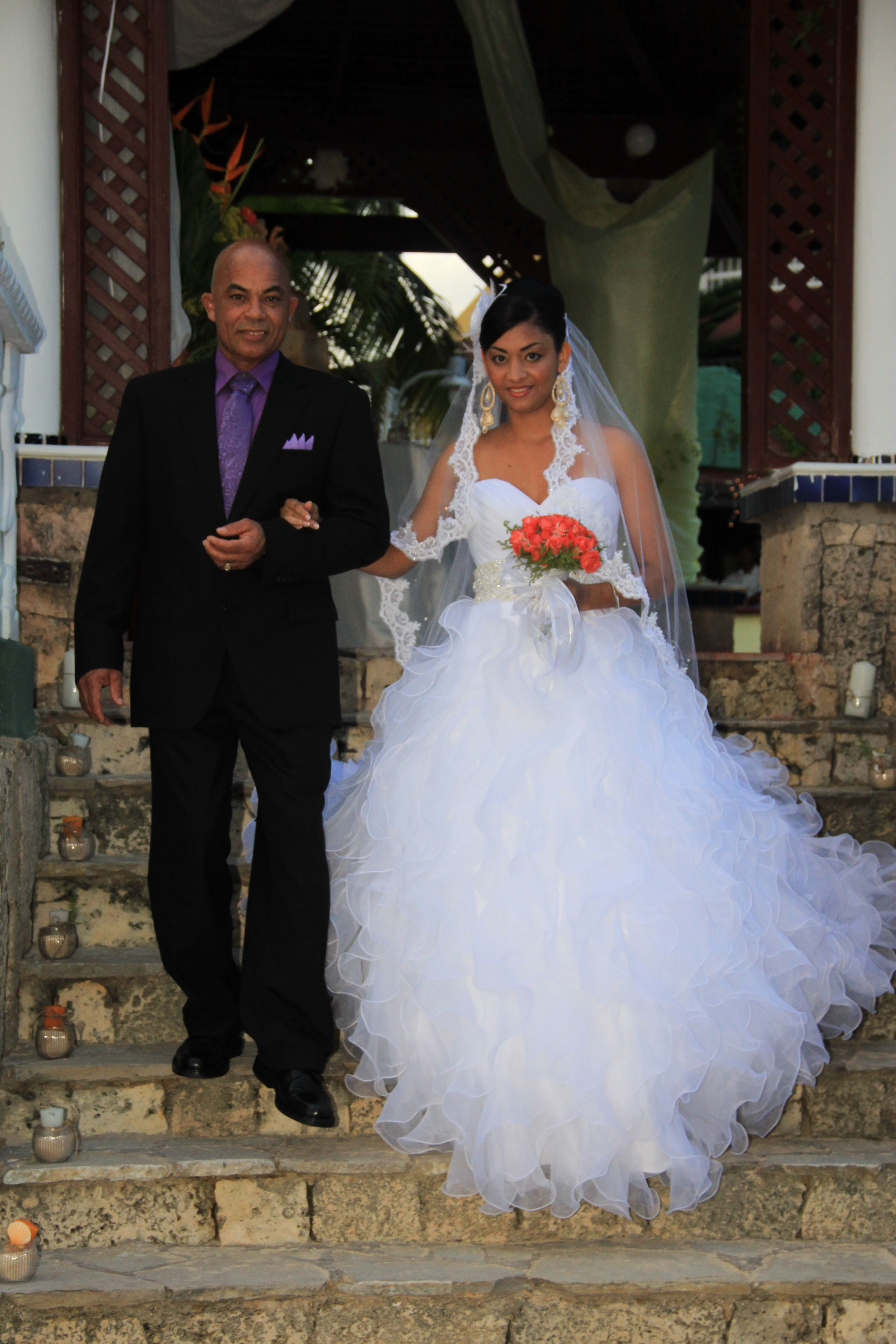 Pandora wedding dress real housewives  Proud dad with Bride on hand  Elizabeth  Miguel The Wedding